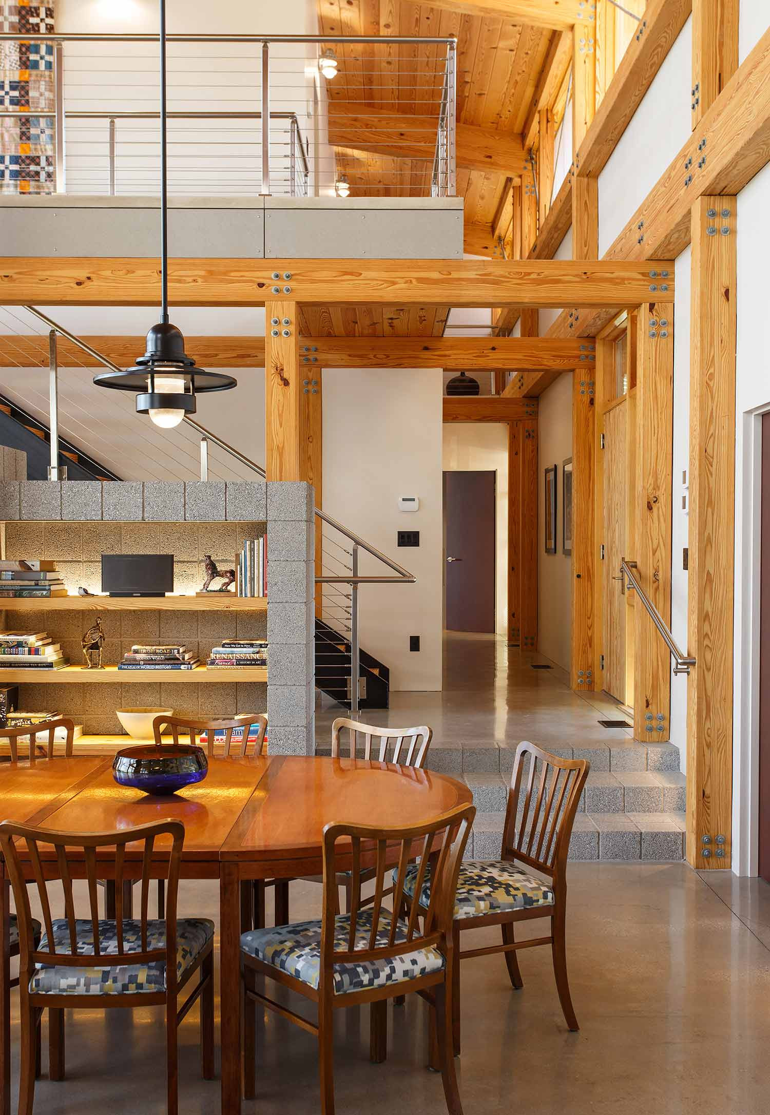 Modern timber frame house for Framing a small house