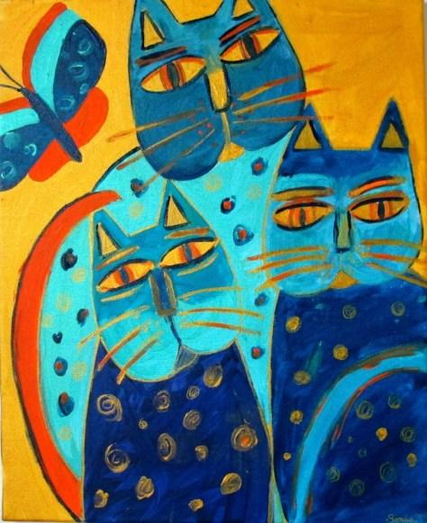 les chats bleux