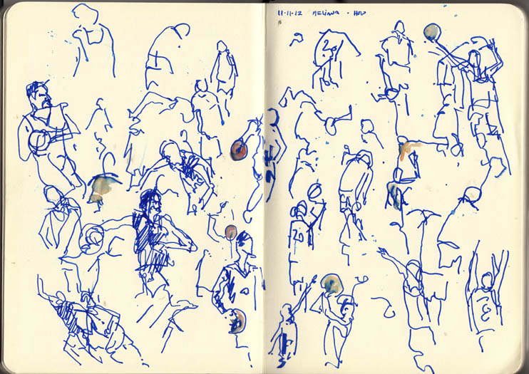 Basketball game \u2013 at the bench a fresh drawing everyday