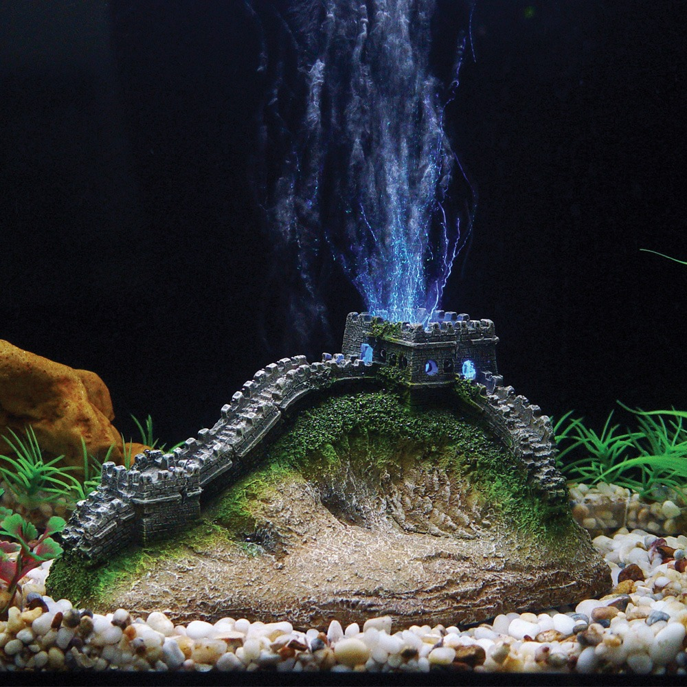 Led Wall China Hugo Kamishi Great Wall Of China Led Aerating Aquarium Ornament