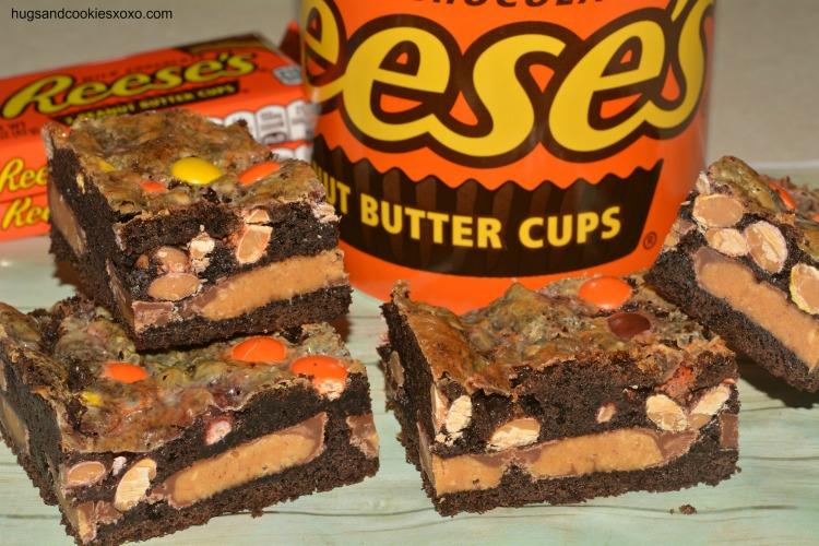 Reese39s Gooey Cake Bars Hugs And Cookies Xoxo
