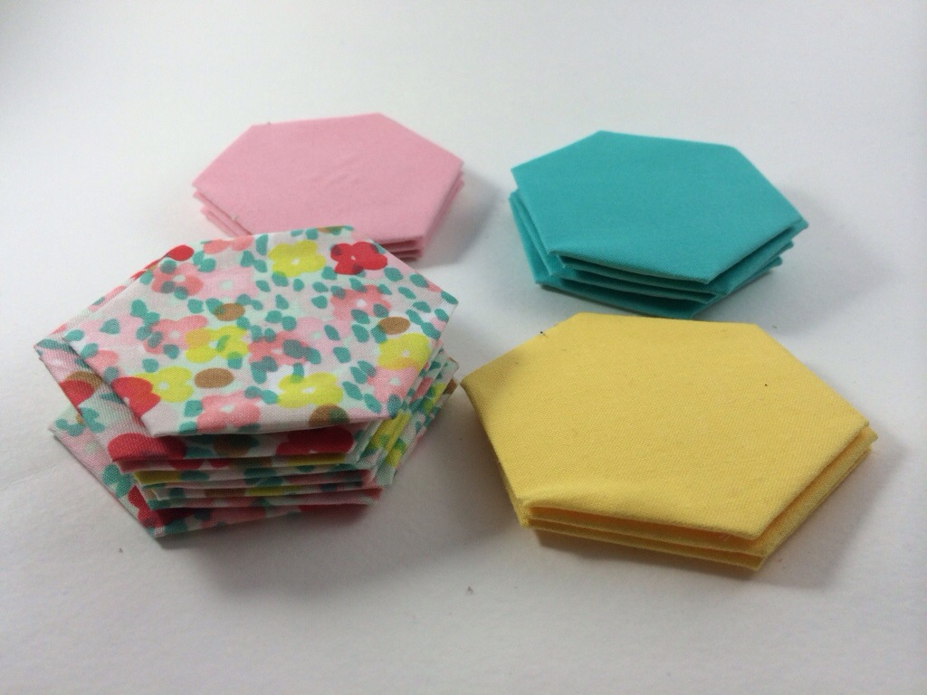 English Paper Pieced Hexagons by Hugs are Fun