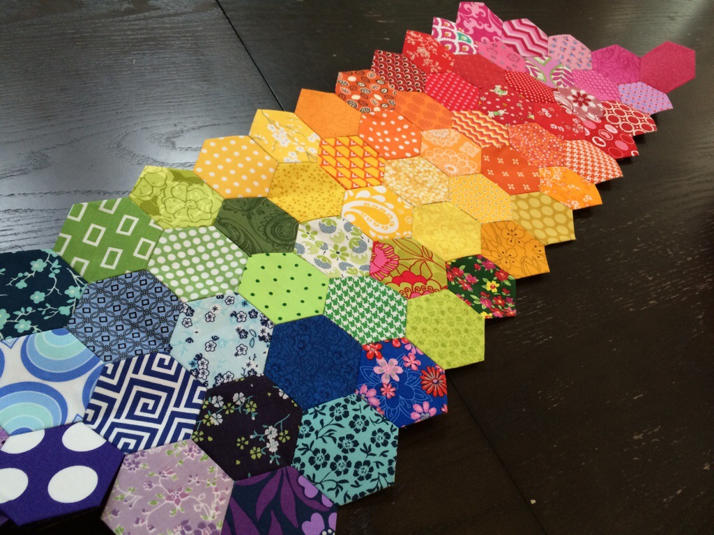 WIP Wednesday Hexagon Table Runner by Hugs are Fun