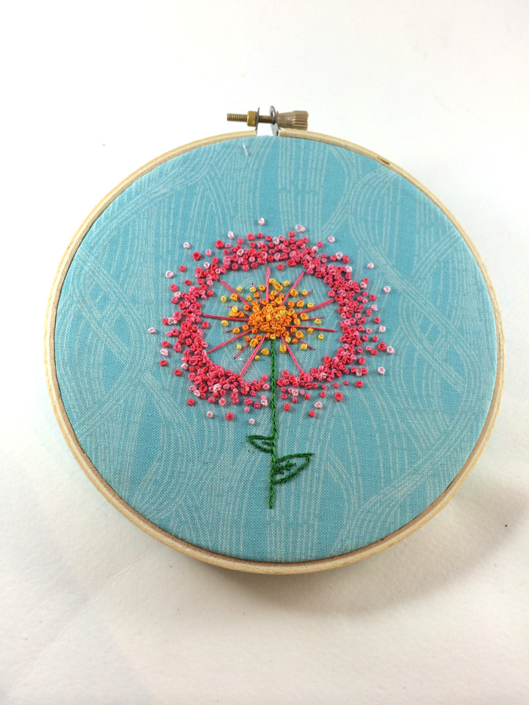 Dandelion Puff Embroidery by Hugs are Fun