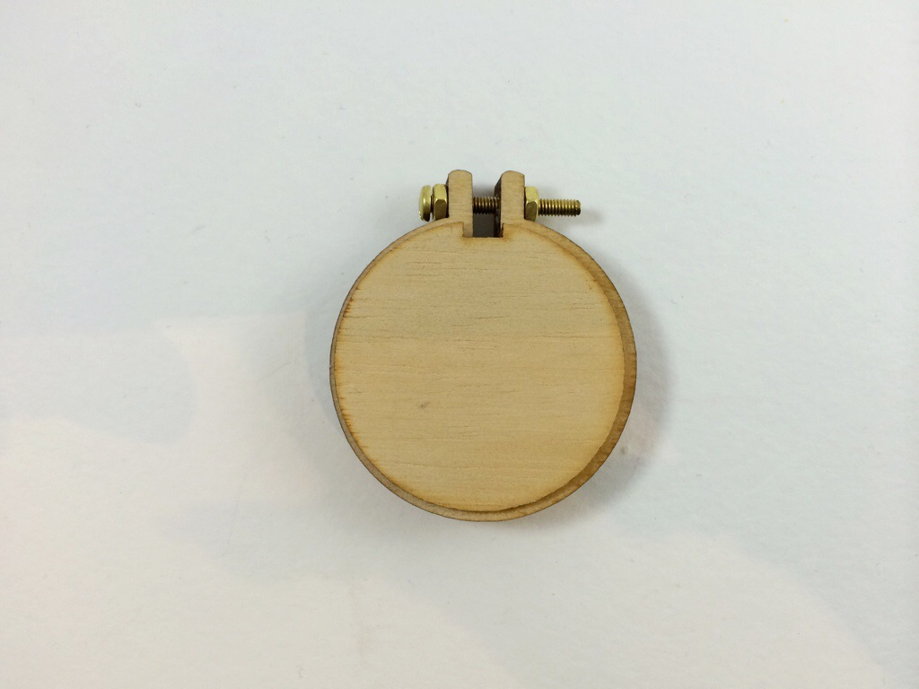 Finished Cross Stitch Pendant! By Hugs are Fun