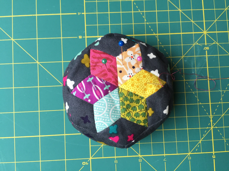 Diamond English Paper Piecing Pincushion from Hugs are Fun