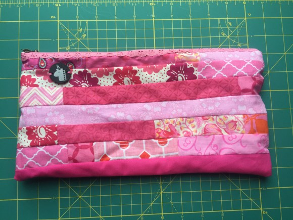 Pink Patchwork Pouch from Hugs are Fun