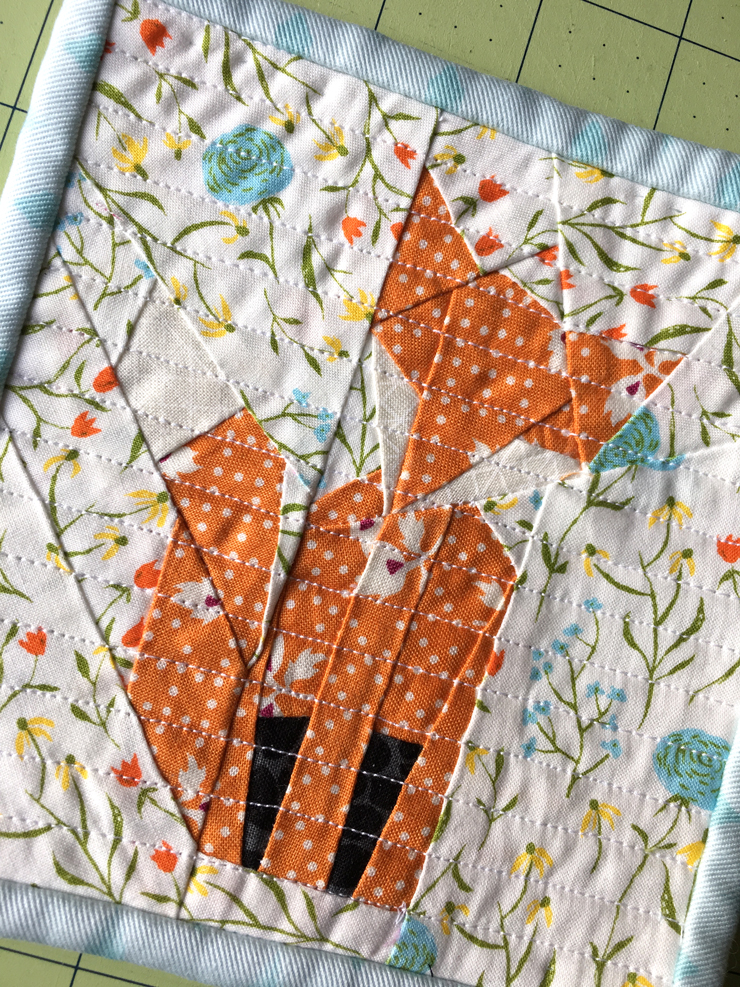 A Little Paper Pieced Fox from Hugs are Fun