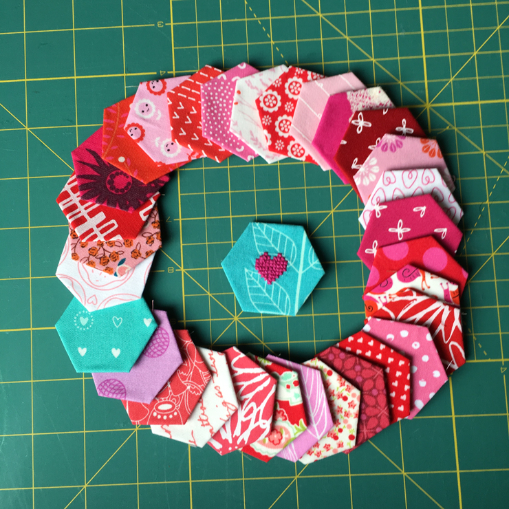 A Reverse Appliqué Heart from Hugs are Fun