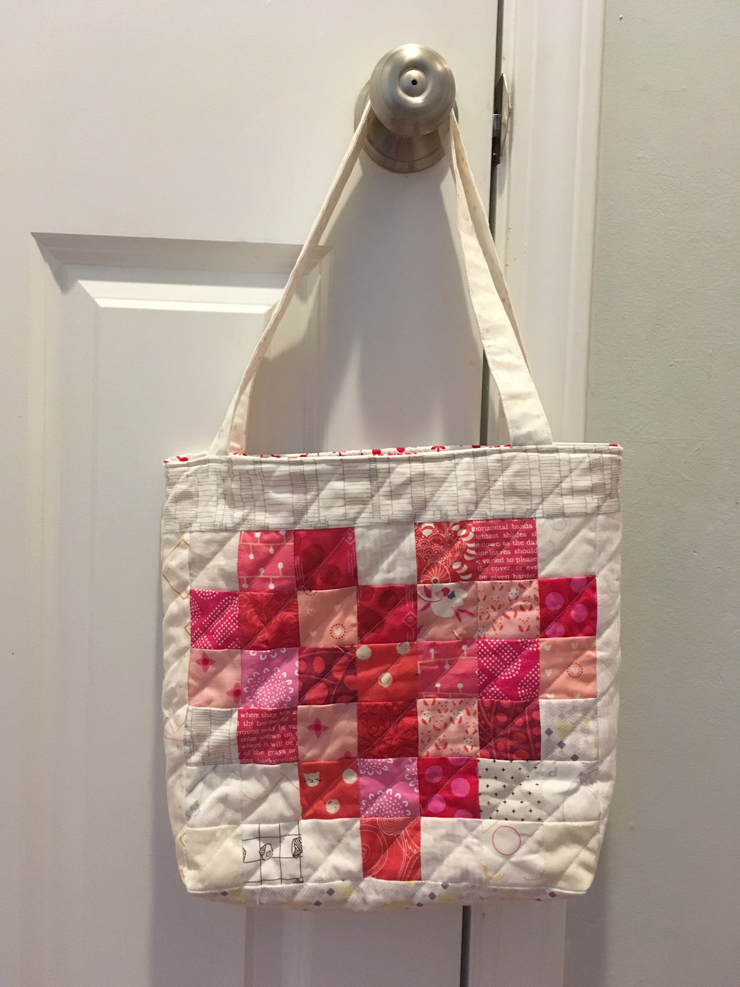 Pixel Heart Totes from Hugs are Fun