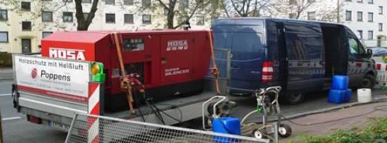 heteluchtbehandeling tegen houtaantasters: Thermo-pkw-haenger
