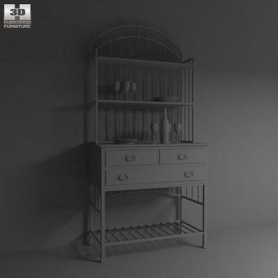 Oak Hill Buffet Server 3D model - Furniture on Hum3D
