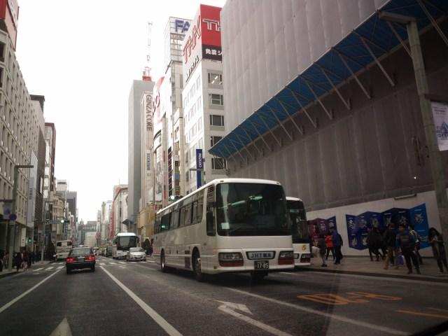 銀座はバスと外国人だらけでした