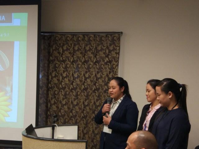 フィリピン人トレーニング生のプレゼン