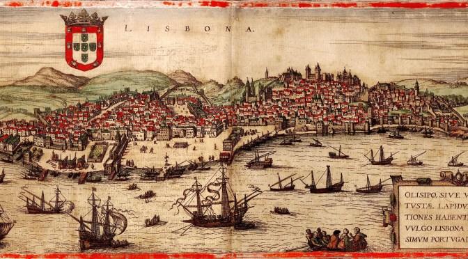 image dessin Lisbonne en 1572