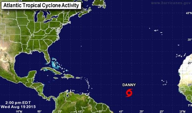 Tempête tropicale DANNY, image NOOA