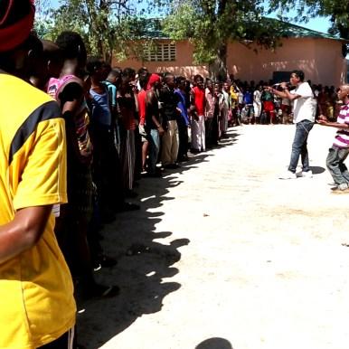 LFM 1.45- Lihle Muhidin raps with former Alshabaab fighters in Mogadishu. Screenshot by Daniel J Gerstle.