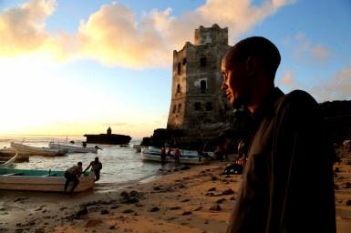 LFM 1.56- Festival producer Mohamed Artan sees sun rise in Mogadishu. Photo by Daniel J Gerstle.