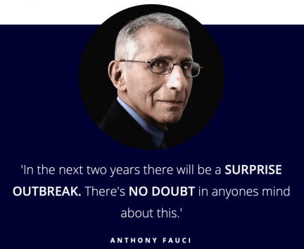 Anthony Fauci quote - coronavirus prediction