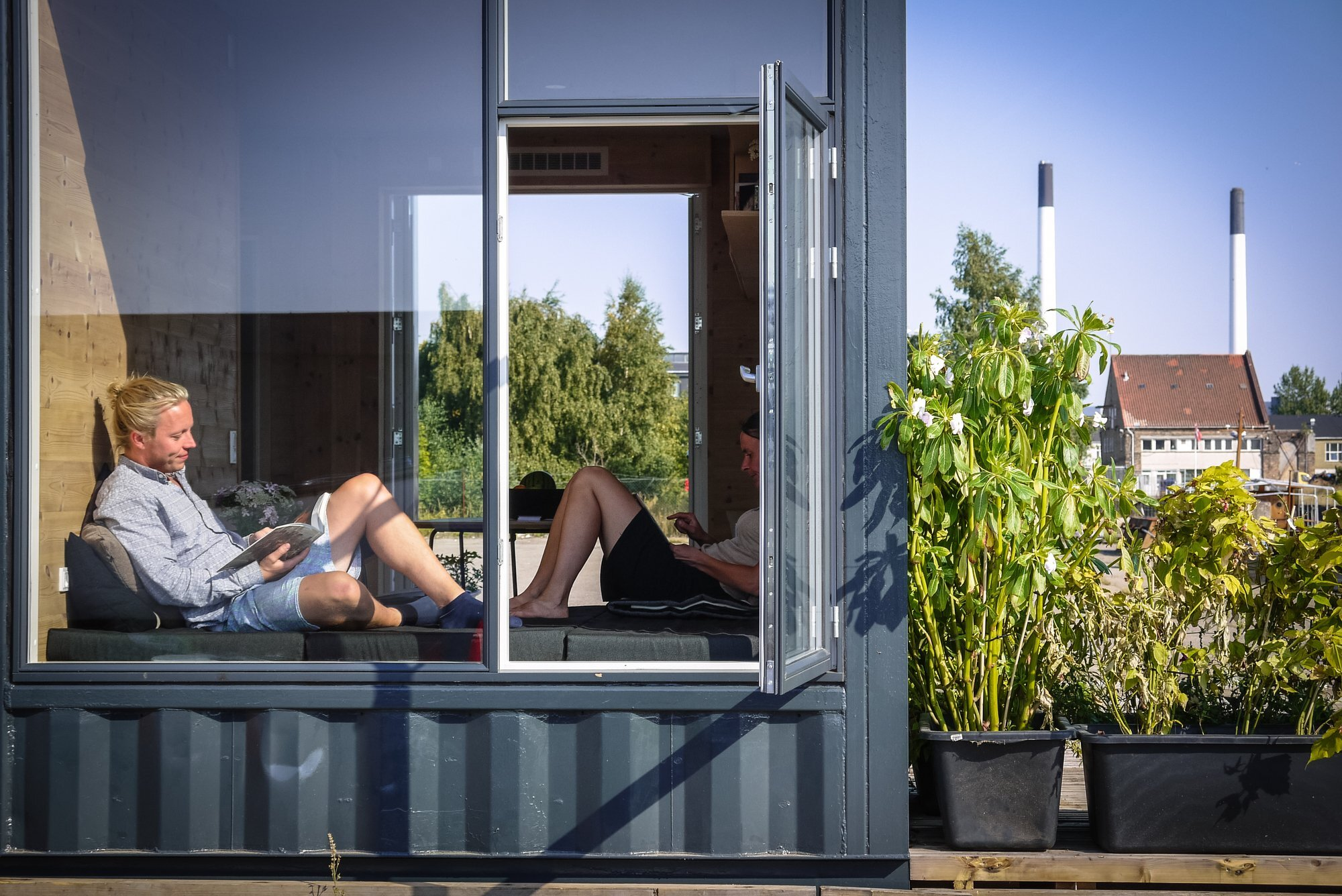 Container Haus Modern A Student Village Made Of Container Homes In Copenhagen By Cph