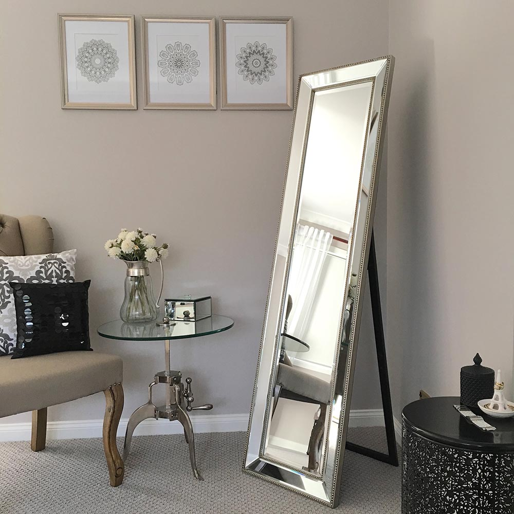 Spiegelschrank Schlafzimmer High Quality Silver Full Length Cheval Mirror - Humble Home