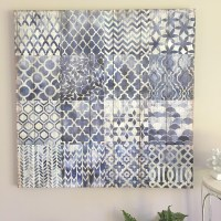 Navy Blue & White Wall Canvas/Ready to Hang Wall Art ...