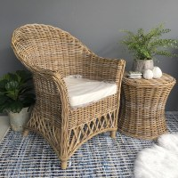 Rattan Armchair with Cushion - Humble Home