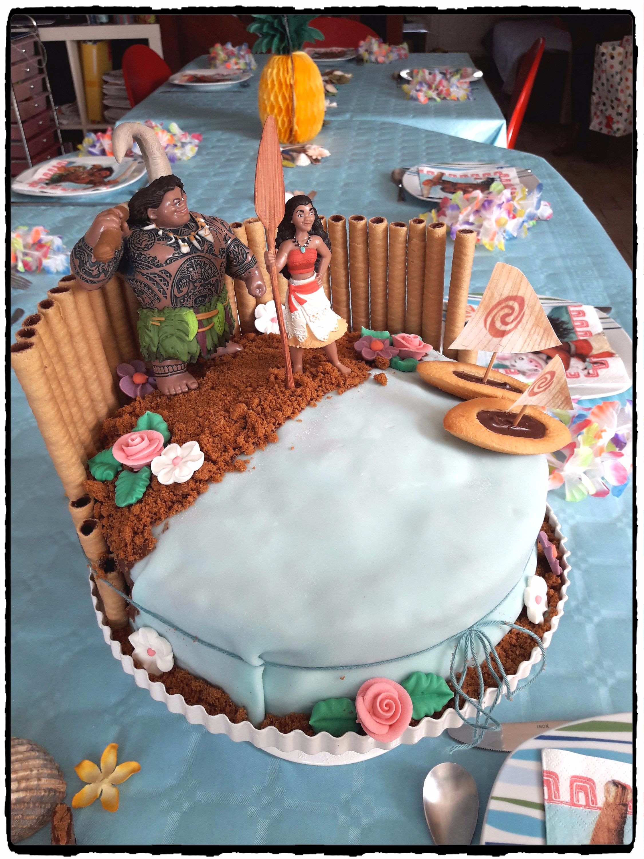 Decoration Gateau Fille 6 Ans Anniversaire Vaiana Thème Tropical 7 Ans Ashley
