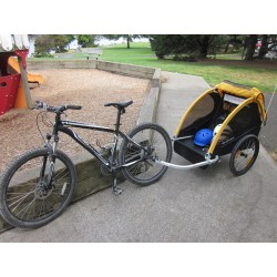 Small Crop Of Bike Trailer For Kids