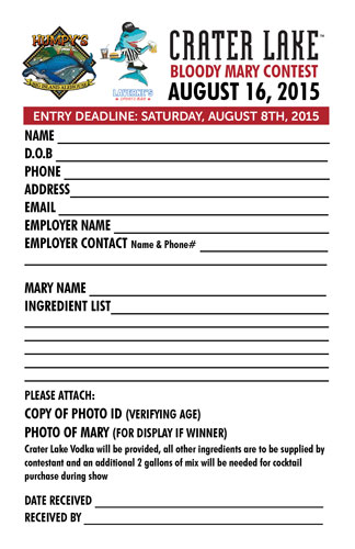 Humpy\u0027s Annual Bloody Mary Contest 2015