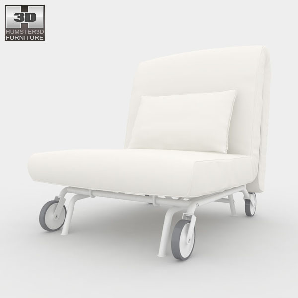 Bettsessel Ikea Ikea Ps Lovas Chair-bed 3d Model - Humster3d