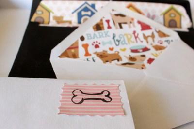 DIY Kuvert mit Hundemotiv Hundebloghaus Hundeblog von Daniela Antoni