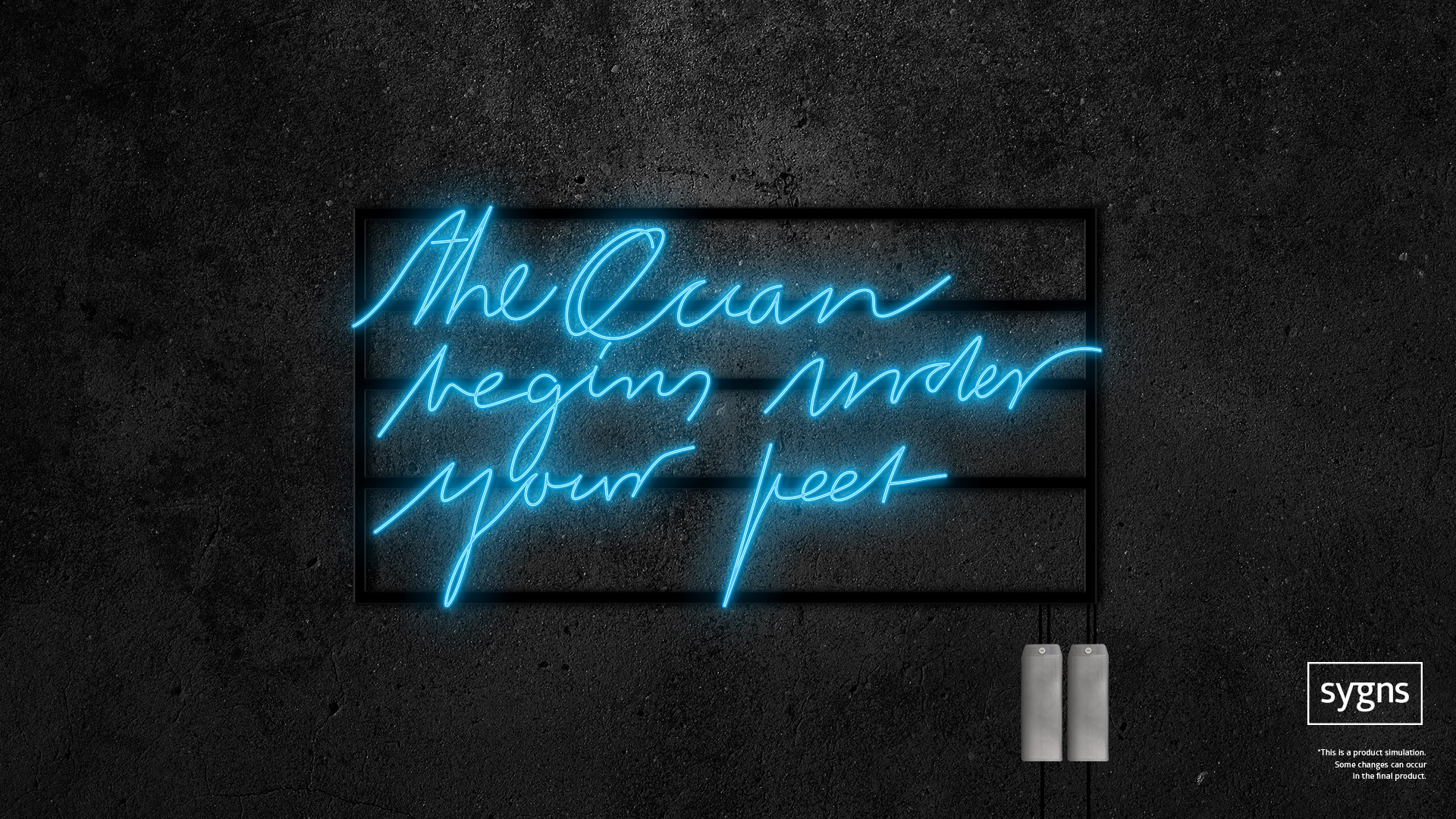 Sygns The Ocean..._ Neon _ Super Blue (large) | H.w.h. Hundrich