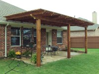 Basic Patio Arbor Transforms Patio - Hundt Patio Covers ...