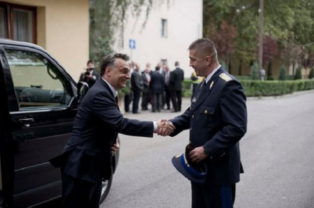 Viktor Orbán and his old body guard, János Hajdu From major to brigadier general overnight