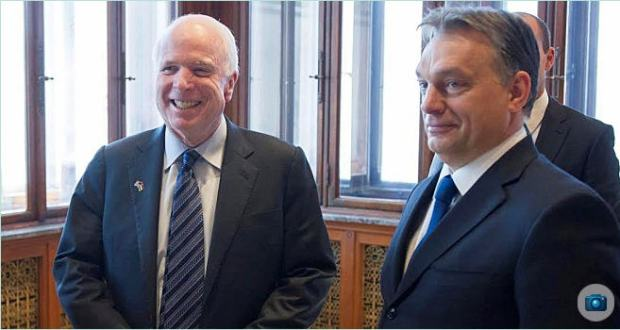 John McCain in Budapest, January 2014 Despite the compulsory smiles McCain was not too happy even then