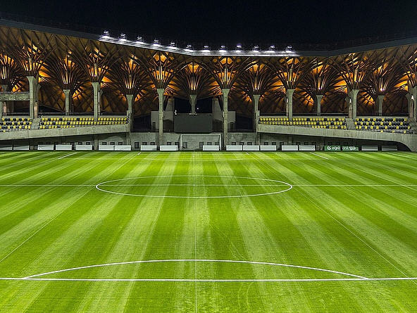 The stadium might empty and the team untalented but the Pancho Arena is fancy