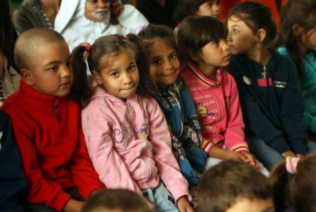 Students in the Greek Catholic segregated school in Nyíregyháza