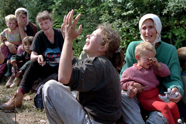 Refugees from Bosnia. These are the kinds of immigrants Hungary doesn't want