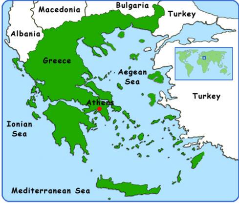 borders of greece
