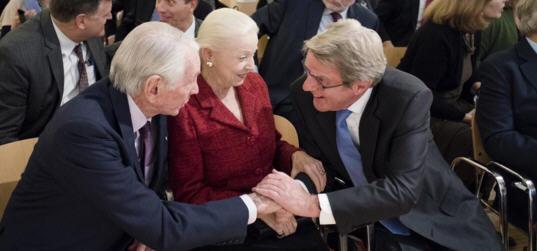 Vera and Donald Blinken at the dedication ceremony on Nocember 3, 2015
