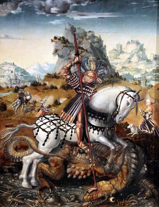 St. George on Horseback. Meister des Döbelner Hochaltars 1511-1513