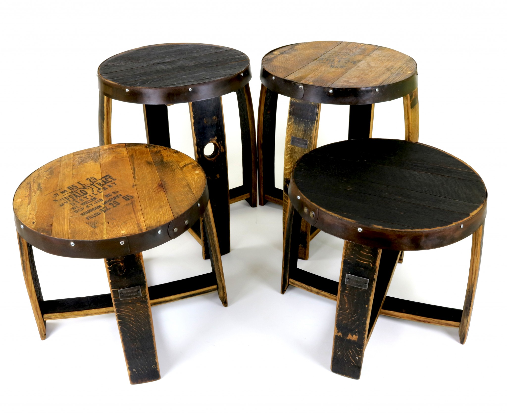 High Top End Table Furniture Made From Whiskey Barrels Hungarian Workshop