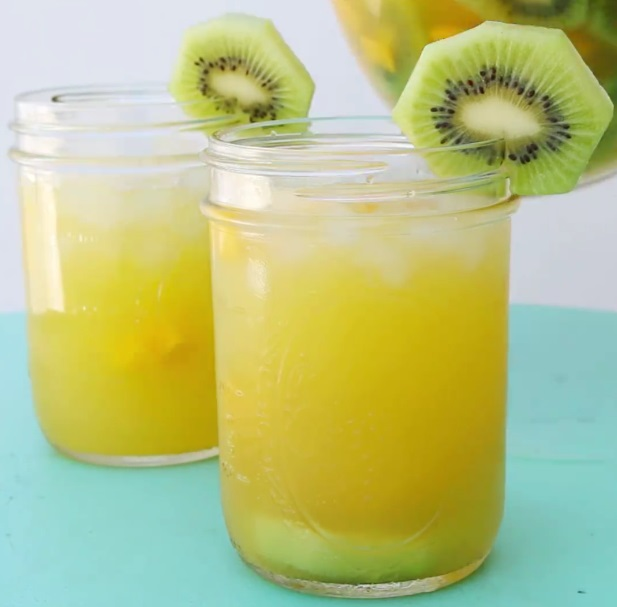 Mango, Kiwi, And Pineapple Sangria Via BuzzFeed/Tasty , Drink For Tonight!!!