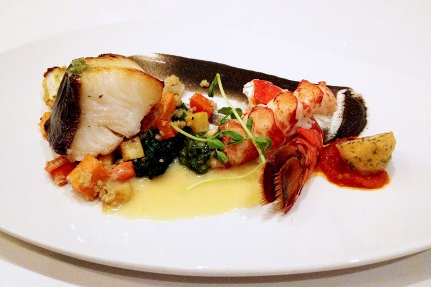 Kyoto Saikyo Miso Baked Sablefish & Yuzu Butter Poached Half Atlantic Lobster Tail