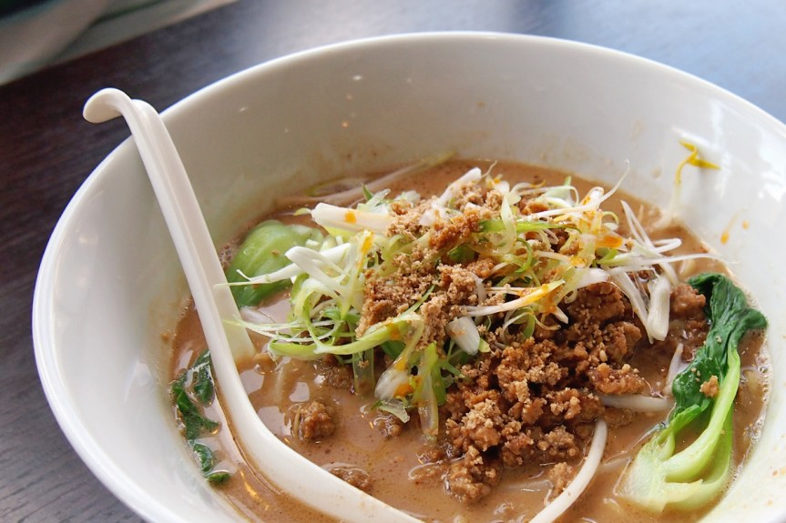 Tantanmen with a miso sesame broth and minced pork.
