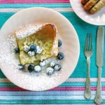 Dutch Baby with blueberries by www.hungryfoodlove.com