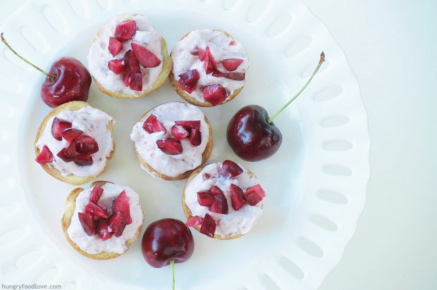 Cherry Whipped Cream filled Tarts