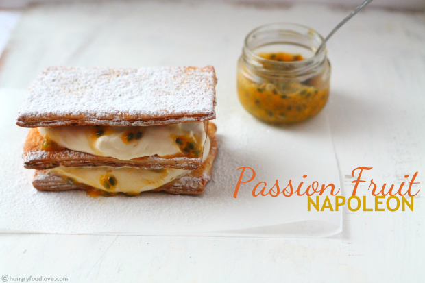 Passion Fruit Mousse Napoleon
