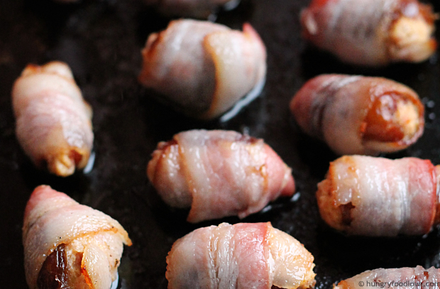 Bacon-wrapped Ripe Plantain Stuffed Dates - Amazing!!!
